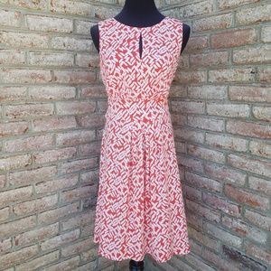 Maggy London Coral Patterned Dress